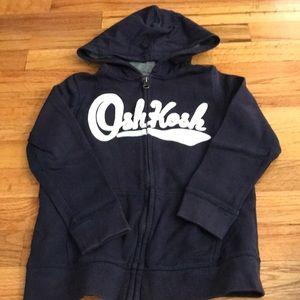 Navy OshKosh Hoodie Sweatshirt size 6